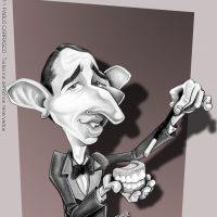 """Caricatura del """"Mago sin dientes"""" (2011)."""