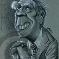 Caricatura de Jorge Luis Borges (2013).
