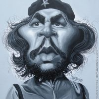 """Caricatura de Ernesto """"Che"""" Guevara (2015)."""