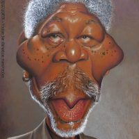 Caricatura de Morgan Freeman (2015).