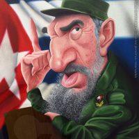 Caricatura de Fidel Castro (2017).