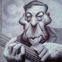 Caricatura de Atahualpa Yupanqui (2018).