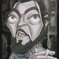 Caricatura de Julio Cortázar (2013).