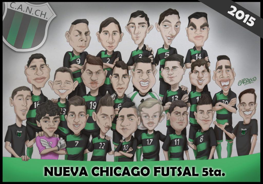 Caricatura a pedido para el Club Nueva Chicago (2015)