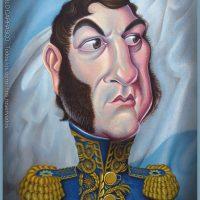 Caricatura de José de San Martín (2017).