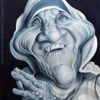 Caricatura de la Madre Teresa (2017).