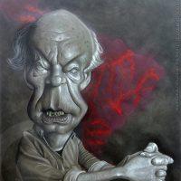 Caricatura de Eduardo Galeano (2017).