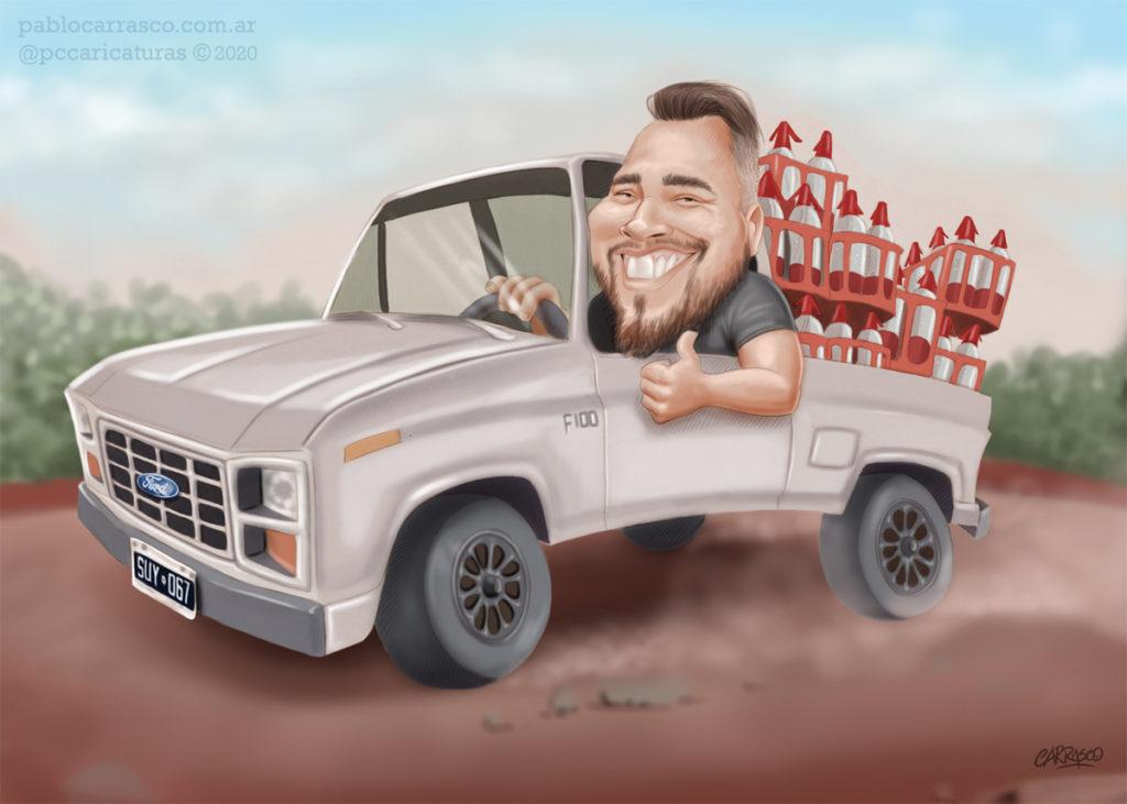 Caricatura a pedido desde Bahía Blanca (2020)