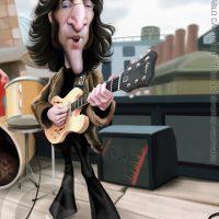 Caricatura de John Lennon (2018).