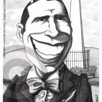 Caricatura de Carlos Gardel (2007).