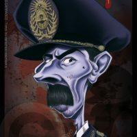 Caricatura de Jorge Rafael Videla (2013).