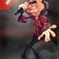 Caricatura de Mick Jagger (2015).