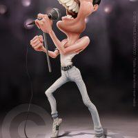 Caricatura de Freddie Mercury (2018).