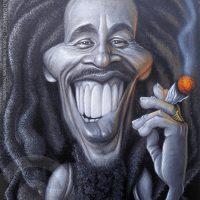 Caricatura de Bob Marley (2019).